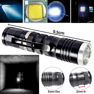 7W Battery Powered Portable Zoomable Waterproof Ultra Bright LED Flashlight Pocket Torch Outdoor Lamp/Emergency Light
