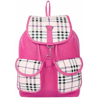 Bizarre Vogue Stylish Backpack For Girls (Pink)