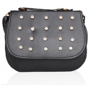 Lady queen  black sling bag