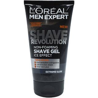 LP Men Expert Shave Revolution Non-Foaming Shave Gel, Ice Effect, Extreme Glide - 150ml
