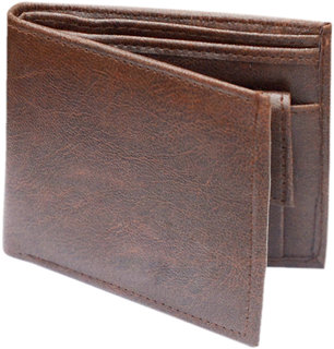 RK  clasic Brown  bi-fold wallet