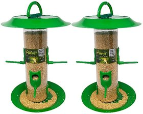 Amijivdaya large bird feeder with hut (pack of 2)