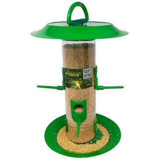 Amijivdaya large bird feeder with hut