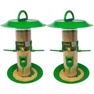Amijivdaya large bird feeder with hut (pack of 2)