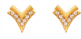 Touchstone Gold Plated Pretty Earrings For Women
