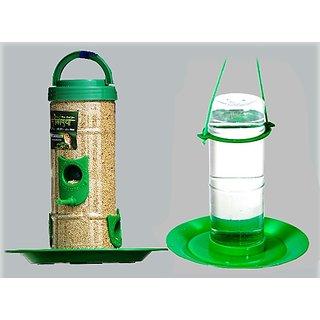 Amijivdaya Medium bird feeder  water feeder combo
