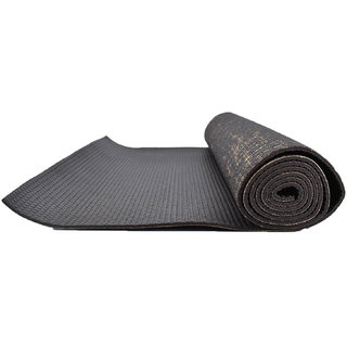 Eco-friendly Anti-Slip Textured Yoga Mat 8mm Thick : 6 Feet x 2 Feet with Free Bag - Cocoa