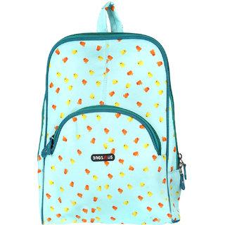 BagsRUs Petite 7.8 Liter Polyester Sea Green Stylish Designer Backpack Travel Bag for Women or Girls (WB108FCG)