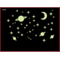 JAAMSO ROYALS  outer space moon start planet kids night  Wall Sticker for Home Dcor