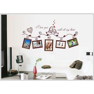 JAAMSO ROYALS AY640B Creative Bird Photo Frame Wall Sticker for Home Dcor