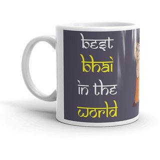 FS Rakshabandhan Gift For Brother Best Bhai In The World White Coffee Mug 320ml Birthday G