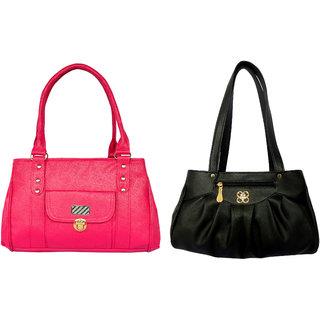 GIRLS SHOULDER BAG BY ALL DAY 365(1 PINK  1 BLACK)(195342)