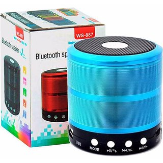 WS-887 Wireless Portable Bluetooth Speaker high Quality and Any Mobile Supported CAR/Laptop/Home Audio 5 Bluetooth Speak