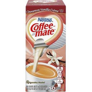 Nestle Coffee-mate Coffee Creamer, Cinnamon Vanilla Creme, 0.375oz liquid creamer singles, 50 count - 550ml (18.7oz)