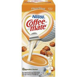 Nestle Coffee-mate Coffee Creamer, Hazelnut, 0.375oz liquid creamer singles, 50 count - 550ml (18.7oz)