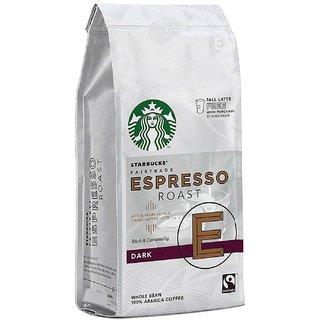 Starbucks Fairtrade Espresso Roast Dark Whole Bean 100% Arabica Coffee - 200g