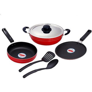 Magicraft Six Piece Non Stick Cookware Set With Stainless Steel Lid