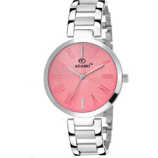 Adamo Enchant Analog Pink Dial Women's Watch - 2480SM06