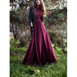 4a6f3e7cdfb Buy Rimsha Wear women s maroon crepe long party dress Online - Get 30% Off