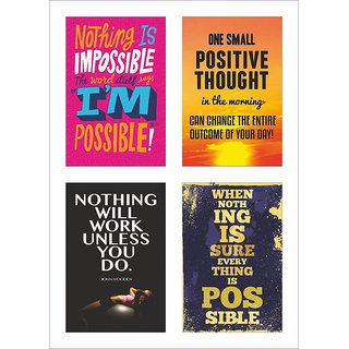 Inspirational Quotes Poster Set of 4 set 35