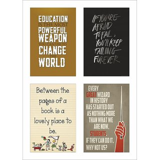 Inspirational Quotes Poster Set of 4 set 42