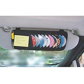KunjZone Car Cd Visor Holder Dvd Storage Organiser Bag For Maruti Ritz