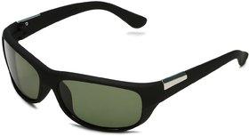 Code Yellow Black Sports Women Wrap-around  Sunglass with UV Protection (UV400) Glass Lens