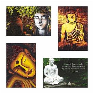 Buddha Poster Set of 4 Set 100