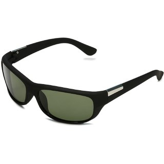 Code Yellow Black Sports Women Wrap-around  Sunglass with UV Protection (UV400) Glass Lens
