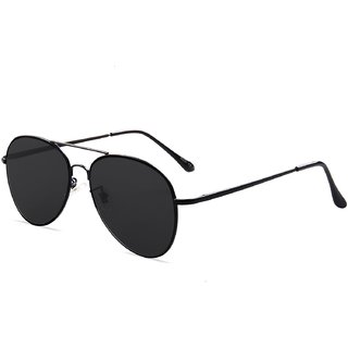 Code Yellow Black Aviator Sunglasses