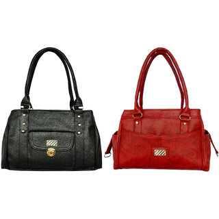 Ladies shoulder bag by all day 365(196a338)(Black  red)