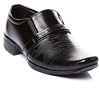 Party Were Black Leather Shoe For kids