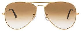 David Martin Gold  Brown Gradient Aviators Sunglasses(UV Protected)(Medium Size)