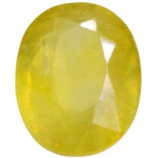 Natural Pukhraj Stone 7 Ratti (6.4 carats) Rashi Ratna  Origional and Certified by GEMOLOGICAL LABORATORY OF INDIA (GLI) Yellow Sapphire Precious Gemstone Unheated and Untreated Top Quality Gems for Astrological Purpose