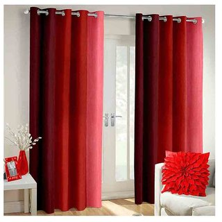 Cloud India 5Ft Window Cutains Long Crush Print Set of 2 Piece Polyster Living Room  Bed Room Curtains With Attractive Color