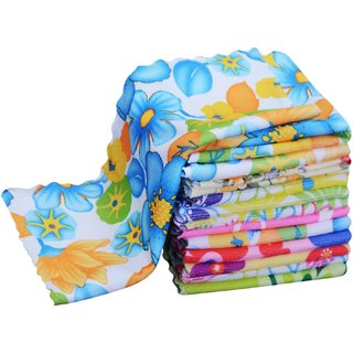 Home Delight 200 GSM pack of 12 cotton Multicolor Face Towel