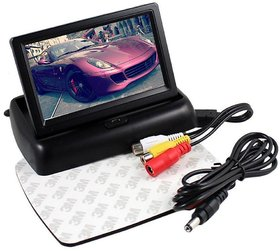 4.3 inch Folding LCD TFT Monitor Display For Car Dashboard - Useful For Reverse Parking Camera Output or Any Video Outpu