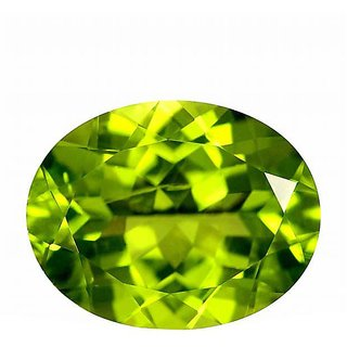 Original Paridot Stone 5.5 Ratti (5 carats) Rashi Ratna  Natural and Certified by GEMOLOGICAL LABORATORY OF INDIA (GLI) Green Olivine Precious Gemstone Unheated and Untreated Top Quality Gems for Astrological Purpose