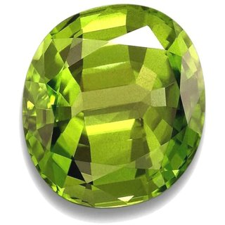 Natural Peridot Stone 7.5 Ratti (6.8 carats) Rashi Ratna  Origional and Certified by GEMOLOGICAL LABORATORY OF INDIA (GLI) Green Olivine Precious Gemstone Unheated and Untreated Top Quality Gems for Astrological Purpose