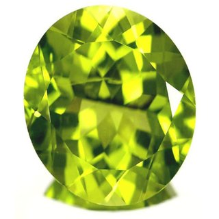 Natural Peridot Rashi Ratna 8 Ratti (7.3 carats) Stone  Origional and Certified by GEMOLOGICAL LABORATORY OF INDIA (GLI) Green Olivine Gemstone Unheated and Untreated Top Quality Gems for Astrological Purpose