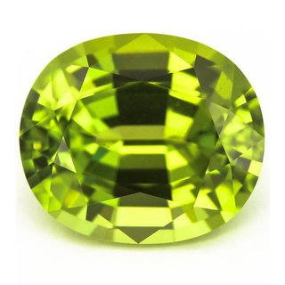 Natural Peridot Gemstone 8 Ratti (7.3 carats) Rashi Ratna  Origional and Certified by GEMOLOGICAL LABORATORY OF INDIA (GLI) Green Olivine Precious stone Unheated and Untreated Top Quality Gems for Astrological Purpose