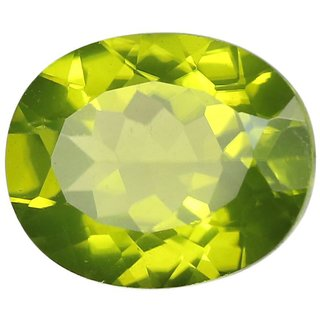 Natural Peridot Stone 8.25 Ratti (7.5 carats) Rashi Ratna  Origional and Certified by GEMOLOGICAL LABORATORY OF INDIA (GLI) Green Olivine Precious Gemstone Unheated and Untreated Top Quality Gems for Astrological Purpose