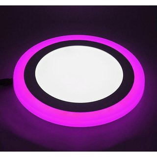 Snap Light White+Pink Dual Color 9 W Power LED Ceiling Panel Light Round Shape