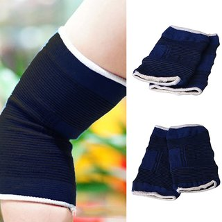 Quinergys Blue Elasticated Elbow Support Bandage Brace Sleeve Wrap Arthritis Sport Gym