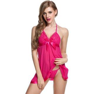 Buy Lola Dola LDLDoll001-Pink Baby Doll Baby Doll Lingerie Sleepwear Women  Ladies Girls Nightwear Babydoll Sleepwear wit Online - Get 60% Off 1e1e1b84f