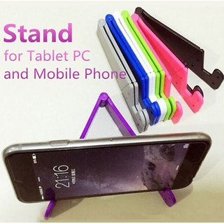 Foldable Mobile Phones Stand Holder Anti Slip Small Support  V Shape Electronic Commerce Gift 1 Piece Random Color