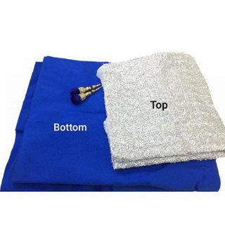 7292e8f3a4f Buy Zipker Taffeta Silk Sequence Work Crop Top Lehenga Choli (Blue ...