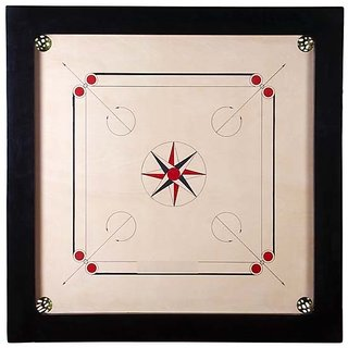 Tryviz Carrom Board(20 inches x 20 inches x 1.5 inches x 1.5) 3MM Ply Pack Of 1