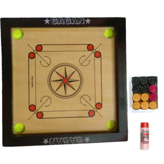 TRYVIZCarrom Board(20 inches x 20 inches x 1.5 inches x 1.5) 3MM Ply Pack Of 10