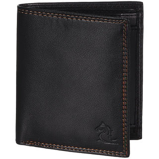 Kara Mens Black Bi-fold PU wallet